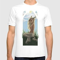 Satyress Mens Fitted Tee White SMALL