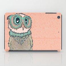 Owl wearing glasses II iPad Case