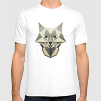 Wandering Wolf Mens Fitted Tee White SMALL