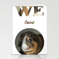 We Love Guinea Pigs Stationery Cards