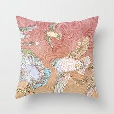 The Migration Throw Pillow