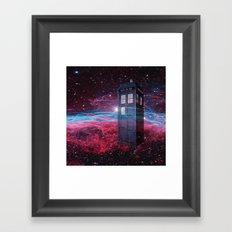 Dr Who Police Box  Framed Art Print