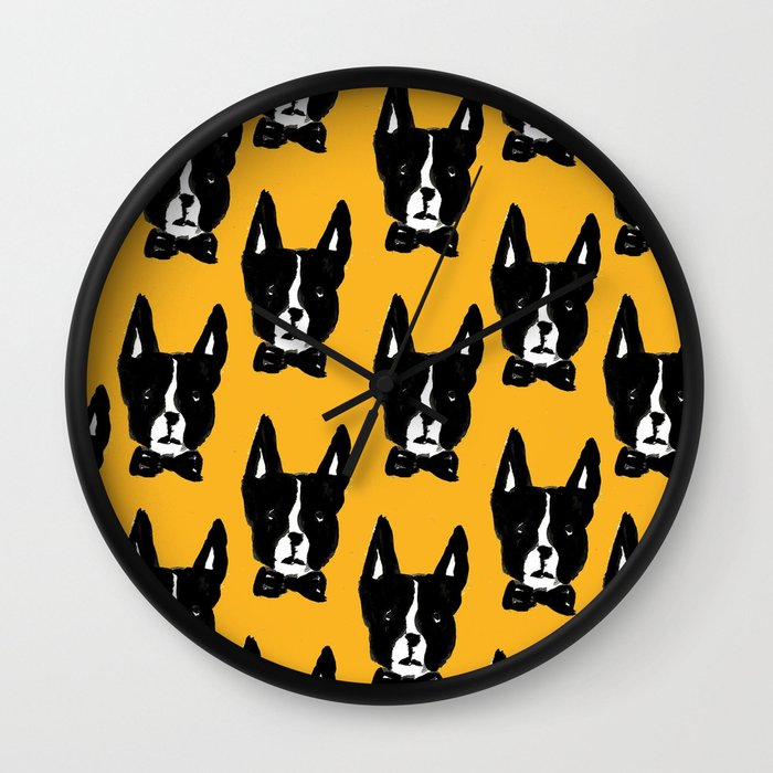Boston Terriers Wall Clock
