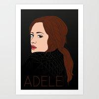 Divas Of POP: Adele Art Print