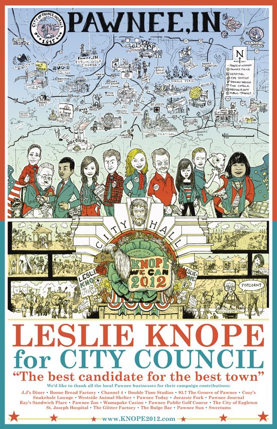 Leslie Knope for City Council - Parks and Recreation Dept. Art Print