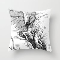 tree nymph Throw Pillow