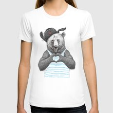 from russia with love Womens Fitted Tee White SMALL