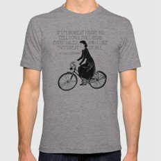 Audrey always knows what to say. Mens Fitted Tee Athletic Grey SMALL