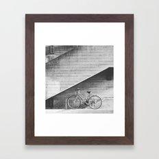 Bike and lines Framed Art Print