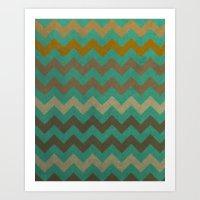 Zigzag Art Print