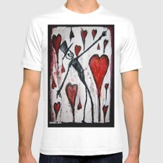 The Death of Hearts Mens Fitted Tee White SMALL