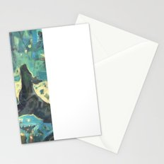 Dog in the garden. Stationery Cards