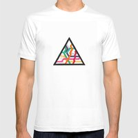 Lonely Triangle Mens Fitted Tee White SMALL