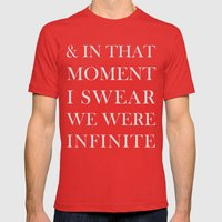 And In That Moment I Swear We Were Infinite Mens Fitted Tee Red SMALL