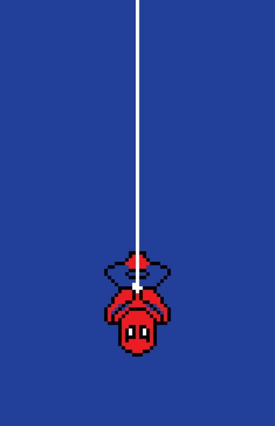 Spider-Pixel Canvas Print