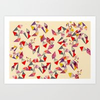 Watercolour Geometric Sh… Art Print