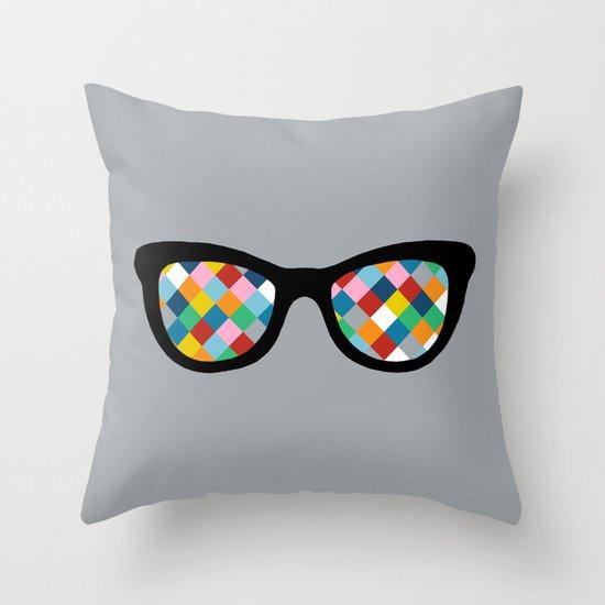 Diamond Eyes Throw Pillow