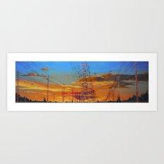 Netting Art Print