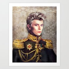 Lieutenant Bowie Art Print