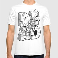 Dead meat Mens Fitted Tee White SMALL