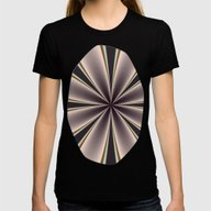 Fractal Pinch In BMAP02 Womens Fitted Tee Black MEDIUM