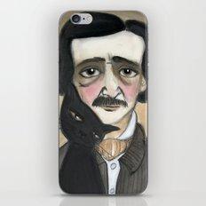 Edgar Allan Poe and the Black Cat iPhone & iPod Skin