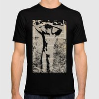 He Knew He Was Being Watched Mens Fitted Tee Black SMALL