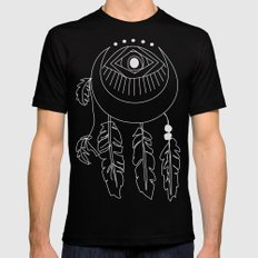 moon dreamcatcher Mens Fitted Tee Black SMALL