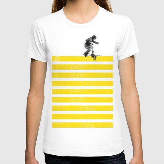 Slide on stripes T-shirt