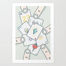 It Wasn't In the Cards Art Print