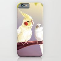 iPhone & iPod Case featuring Budgie and Cockatiel by Lily Art