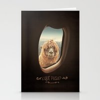 fire Stationery Cards featuring QUÈ PASA? by Monika Strigel