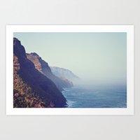 Hawaii Mountains Along T… Art Print