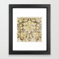Ornate Vintage Distress Design 4 Framed Art Print