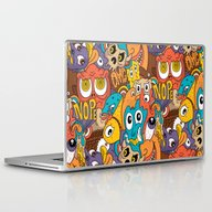 Weird Guys Pattern Laptop & iPad Skin