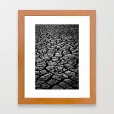 Cracked Monochrome Framed Art Print