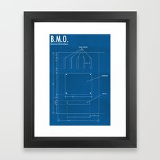 B.M.O. Entertainment Artificial Intelligence (Back) Framed Art Print