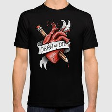 Draw or Die SMALL Mens Fitted Tee Black