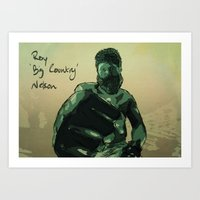 Roy 'Big Country' Nelson Art Print