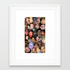 ONE DIRECTION - DERP COLLAGE Framed Art Print