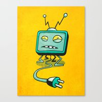 Edna TV Canvas Print