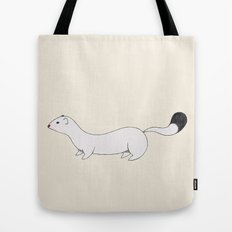 White Stoat Tote Bag