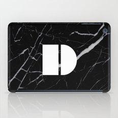 Black Marble - Alphabet D iPad Case