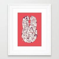 Adulthood Mash-Up Framed Art Print