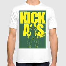 KICK ASS SMALL Mens Fitted Tee White
