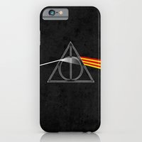 iPhone & iPod Case featuring the darkside of the deathly hallows by jerbing