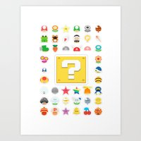 Power Ups! Art Print