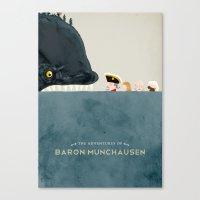 The Adventures Of Baron … Canvas Print