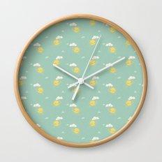 Little Sun green Wall Clock
