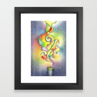 Magic Smoke Framed Art Print